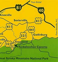 Tuckaleechee Caverns Map